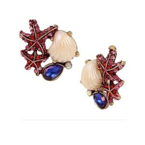 Betsey Johnson Sea Cluster Earrings